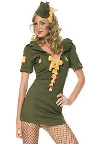 Drill Sergeant Army Babe Costume