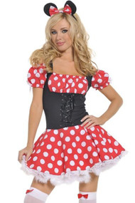 Minnie Peasant Puff Sleeve Costume