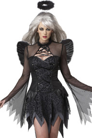 Deluxe Sultry Dark Fallen Angel Halloween Costume XL
