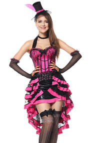 Pink Moulin Rouge Dancer Burlesque Costume 2XL