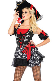 Sassy Shipwreck Skull Pirate Costume XL