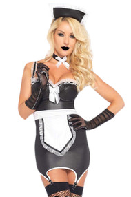 Martika Black Vinyl French Maid Costume