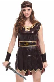 Sexy Vinyl Brown Gladiator Costume
