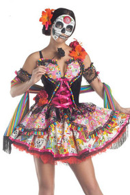 Senorita Muerte Sugar Skull Day of the Dead Halloween Costume