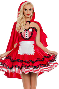Candy Striped Red Riding Hood Costume