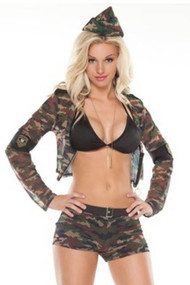 Army Seductress Military babe Costume