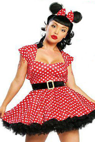 Retro Miss Mouse Polkadot Costume