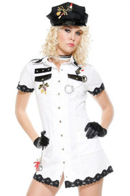White Navy Temptress Officer Costume