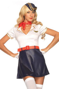 Retro Flight Attendant Uniform Costume
