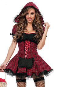 Red Black Gingham Red Riding Hood Costume