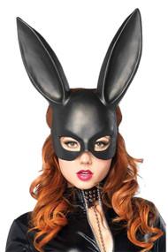 Black Matte Bunny Masquerade Acrylic Mask
