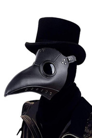 Vintage Plague Doctor Faux Leather Mask
