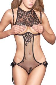 Sylvia Cupless Bodysuit Teddy Lingerie