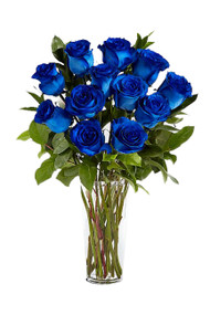 Blue Roses Flower Bouquet Vintage Blooms by Lucky Doll®