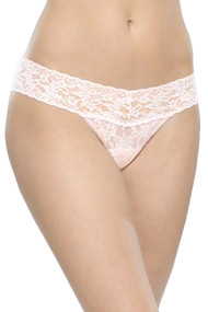 Pale Pink Vera Low Rise Classic Lace Thong