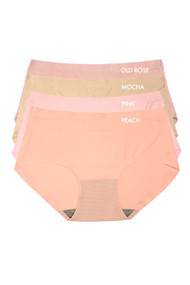 Blush Nude Color Seamless Midrise Air Cool Breathable 4 pack Panties
