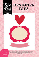 Heart Label Die Set
