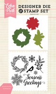 Seasons Greetings Die/Stamp Set