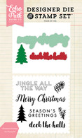 Christmas Greetings Die/Stamp Set