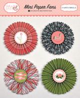 Rock-a-Bye Baby Girl Decorative Mini Paper Fans
