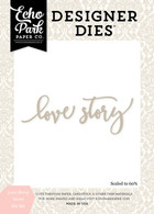 Love Story Word Die Set