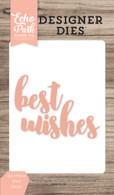 Best Wishes Word Die Set.