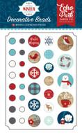 A Perfect Winter Decorative Brads