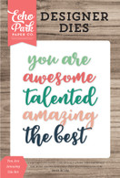 You Are Amazing Word Die Set