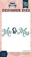 Mr & Mrs Word Die Set
