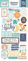 Hello Baby Boy Chipboard Phrases
