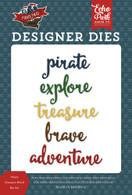Pirate Treasure Word Die Set