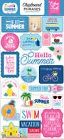 I Love Summer Chipboard Phrases