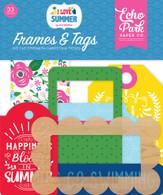 I Love Summer Frames & Tags Ephemera