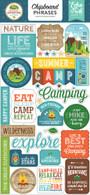 Summer Adventure Chipboard Phrases