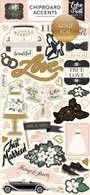 Wedding Day Chipboard Accents