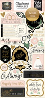 Wedding Day Chipboard Phrases
