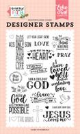 Jesus Loves Me Stamp
