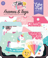 Teen Spirit Girl Frames & Tags Ephemera