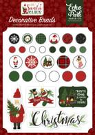 Here Comes Santa Clause Decorative Brads