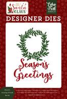 Season's Greetings Wreath Die Set