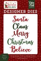 Believe In Santa Word Die Set