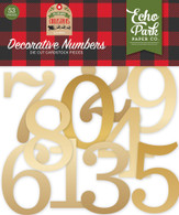 Gold Foil Decorative Numbers