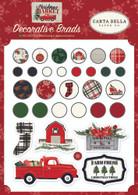Christmas Market Decorative Brads