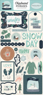 Snow Much Fun Chipboard Phrases