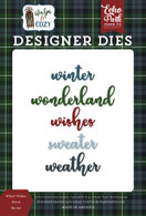 Winter Wishes Word Die Set