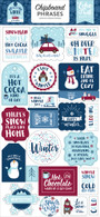 My Favorite Winter Chipboard Phrases