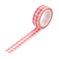 Pink Buffalo Plaid Washi Tape