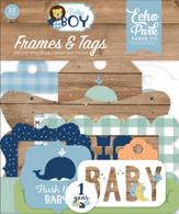Baby Boy Frames & Tags Ephemera