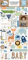 Baby Boy Chipboard Accents