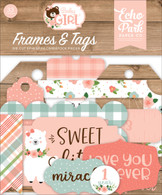 Baby Girl Frames & Tags Ephemera